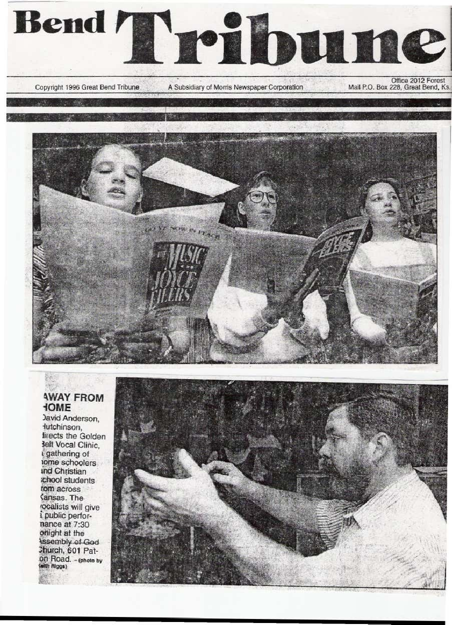 Great Bend Newspaper article: 1996
